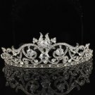 Clear Swarovski Crystals Bridal Bridesmaid Tiara Crown Wedding JH8439