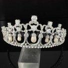 Swarovski Crystals Imitation Pearls Bridal Tiara Crown Bridal Wedding JH8322-0C