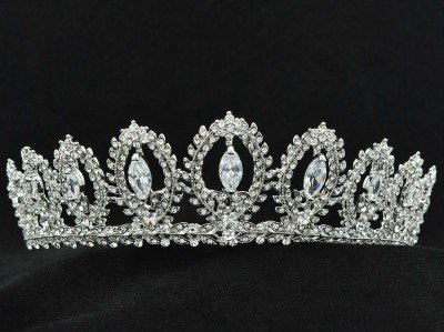 Wedding Pageant Flower Tiara Crown Hair Jewelry Zircon Rhinestone Crystal 266RJK