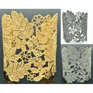 High Quality Multi Floral Flower Leaf Bracelet Bangle Cuff SKA2258M