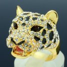 High Quality Leopard Panther Cocktail Ring 7,8,9# W/ Swarovski Crystals SR1695-3