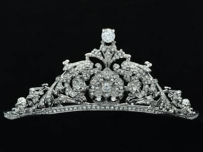 Wedding Clear Flower Tiara Crown Headbands Zircon Rhinestone Crystals 23355R