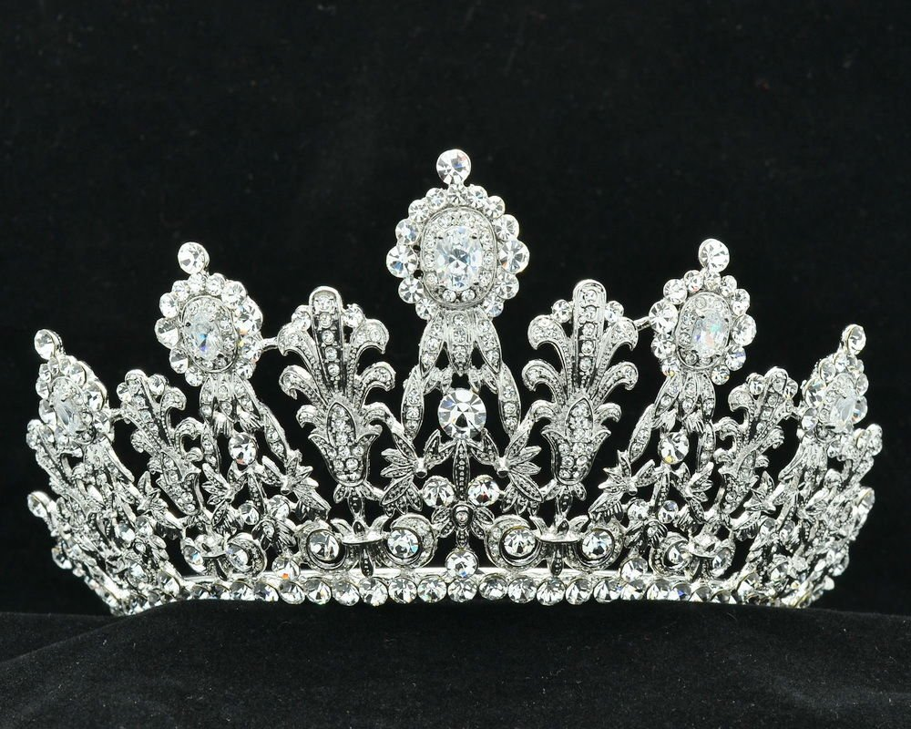Luxurious Bridal Bridesmaid Tiara Crown Headband Clear Swarovski Crystals 07351R