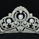 Excellent Bridal Clear Flower Tiara Crown Headbands Rhinestone Crystals 24356R