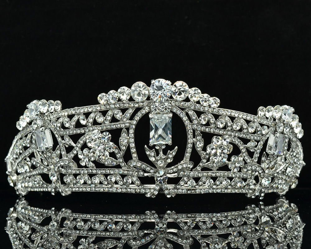 New Design Flower Tiaras Crown Bridal Accessories Rhinestone Crystals 262RJK