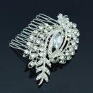 Wedding Jewelry Flower Leaf Hair Comb Accessories Clear Rhinestone Crystal 1234