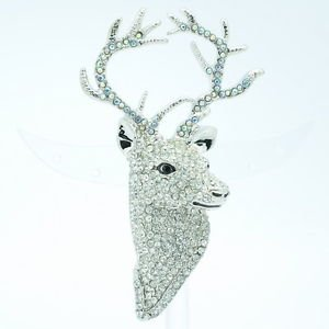 Rhinestone Crystal Animal Clear Deer Brooch Broach Wedding Accessories FA3181