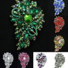 Vintage Jewelry Flower Floral Brooch Broach Pins Rhinestone Crystal 9 Color 4080