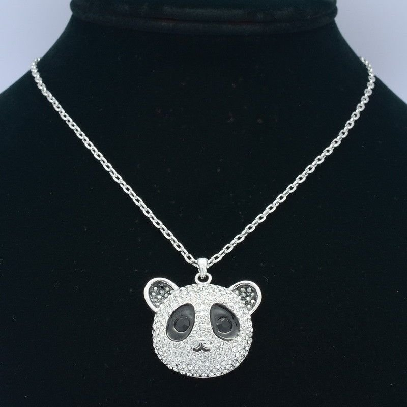 Swarovski Crystals H-Quality Noble Panda Pendant Charm Necklace SN3128-2