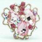 Pretty Cloud Flower Brooch Pin Women's Spring Jewelry Rhinestone Crystal 8806457
