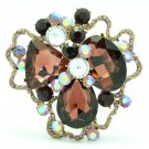 Rhinestone Crystals Women's Party Purple Cloud Flower Brooch Broach Pins 8806457