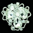 Rhinestone Crystals Cloud Flower Brooch Pin Women Bridal Wedding Jewelry 8806457