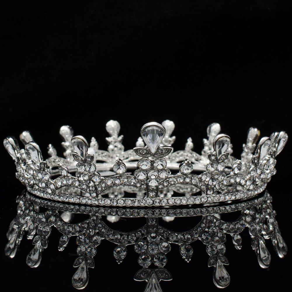 Fashion Wedding Bridal Swarovski Crystals Flowers Crown Headband For Women 8550A
