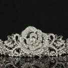 Hot Swarovski Crystals Rose Flower Bridal Tiara Crown for Wedding JHA7721-2