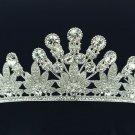 Wedding Flower Tiara Crown Headbands W/ Clear Swarovski Crystals