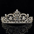 Chic Golden Rhinestone Crystal Flower Tiaras Crown Headband Women Jewelry XBY158