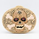Swarovski Crystals Skull Bone Handbag Purse Bag for Women Evening Party JD1270