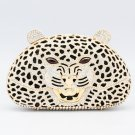 High-Quality Panther Leopard Clutch Evening Bag Purse Handbag Swarovski Crystal
