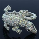 Crocodile Alligator Bracelet Bangle Cuff  Clear Rhinestone Crystal