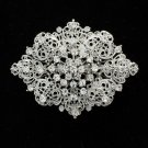 Rhinestone Crystal Palace Heart Bouquet Brooch Broach Pins For Women Bridal 3768