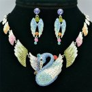 High Quality Pretty Swan Necklace Earring Jewelry Sets Mix Swarovski Crystal