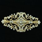 Europe Royal Style Flowers Bud Brooch Pin Rhinestone Crystals Accessories XBY060