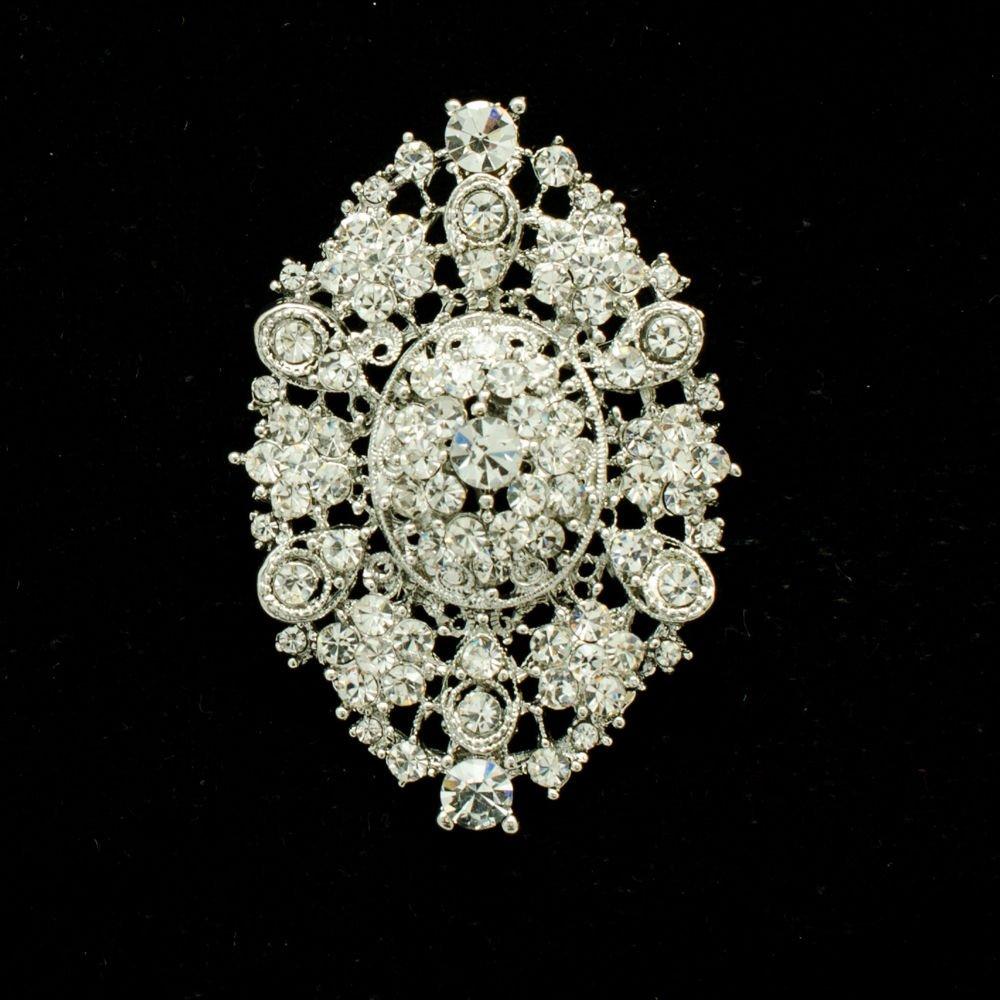Cute Europe Royal Style Bouquet Brooch Pin Rhinestone Crystal Women Jewelry 3549
