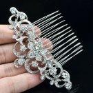 Wonderful Bridal Party Jewelry Clear Flower Hair Comb Rhinestone Crystals 202249
