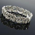 VTG Style Palace Flower Bracelet Chain Rhinestone Crystals Women Jewelry XBY021