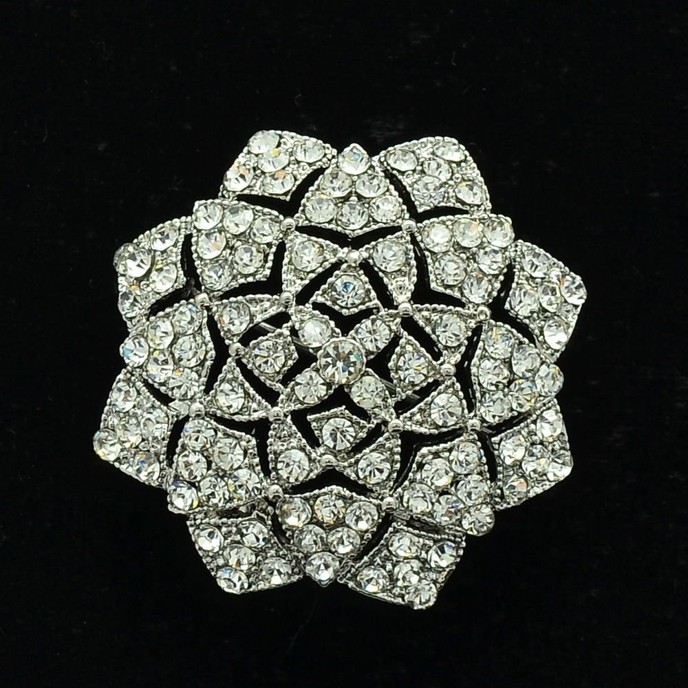 Rhinestone Crystal Bridal Flower Brooch Broach Pins Europe Imperial Style XBY140