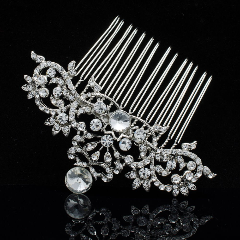 Rhinestone Crystal Comb Hairpins Bridal Hair Accessories for Wedding Prom 2260R