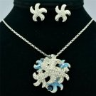 Clear Swarovski Crystals Sea Star Starfish Necklace Earring Set Pendant SN3148
