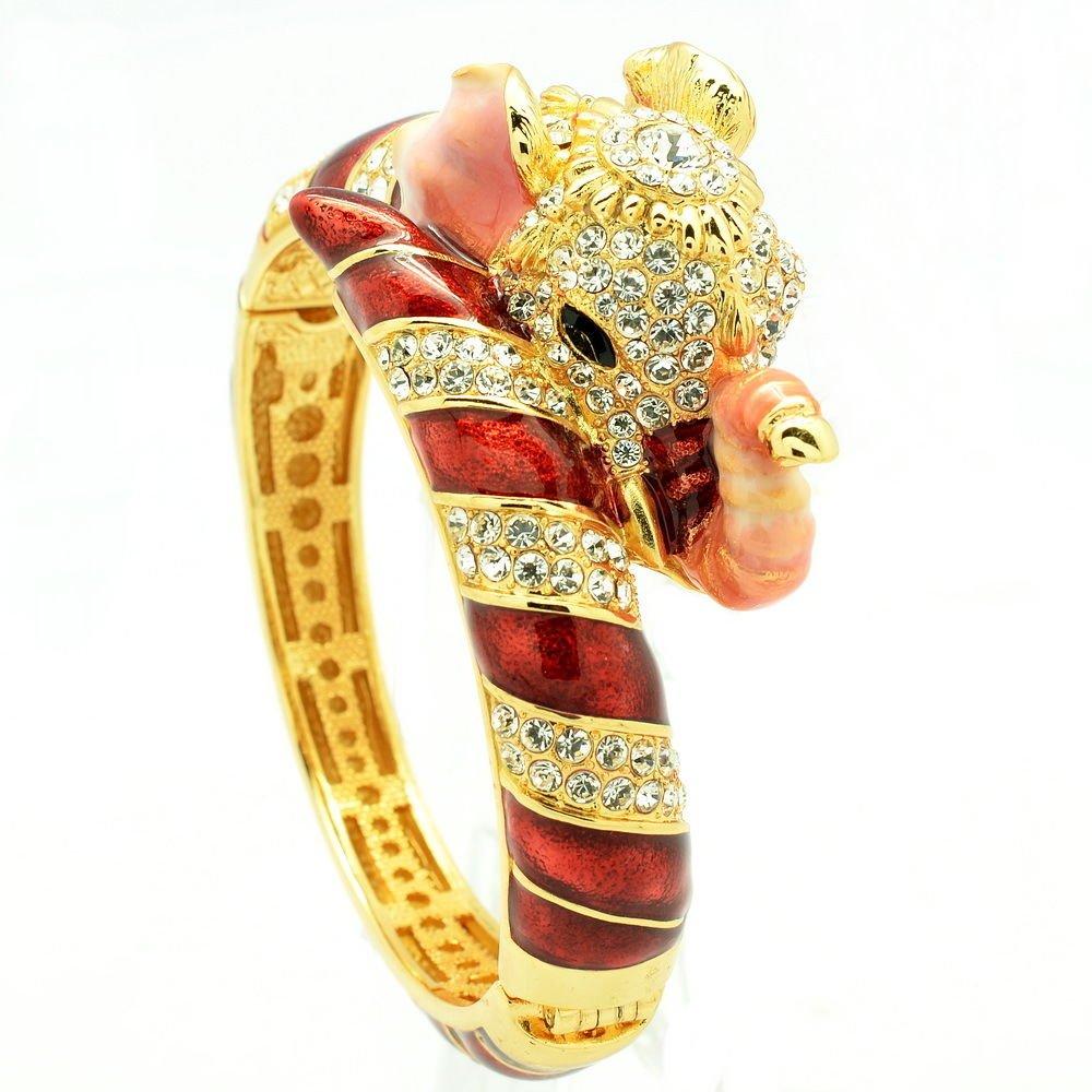 Blink Swarovski Crystal Red Elephant Bracelet Bangle Cuff Women's Jewelry 2251L
