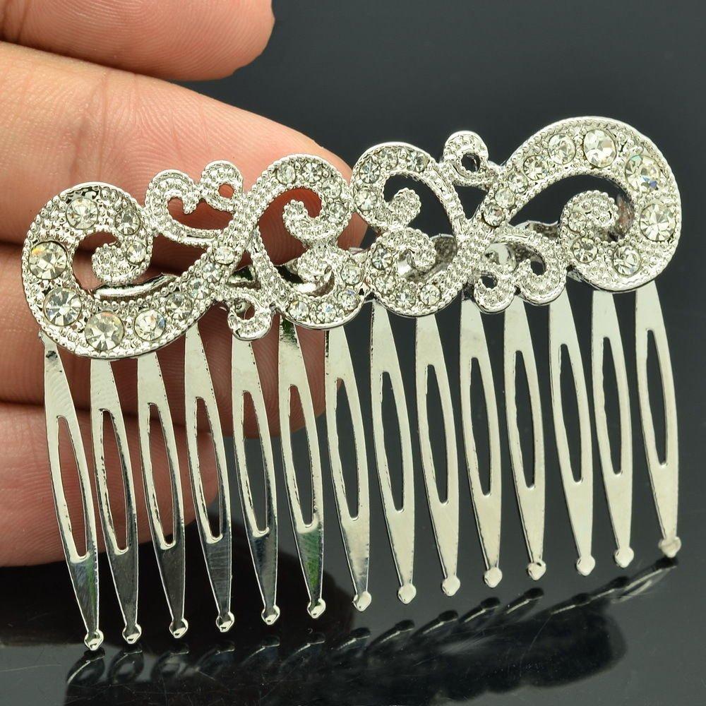 Wedding Bridal Rhinestone Crystals Palace Flower Comb Headband For Women XBY044