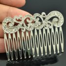Wedding Bridal Rhinestone Crystals Palace Flower Comb Headband For Women XBY044