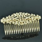 Elegant Rhinestone Crystal VTG Style Gold Palace Comb Headband For Women XBY081