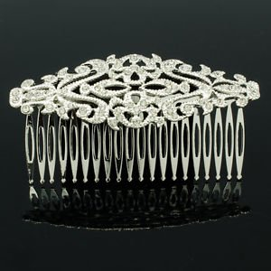 Rhinestone Crystal Wonderful Women's Hair Jewelry Palace Flower Hair Comb XBY081
