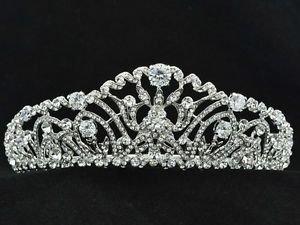 Rhinestone Crystals Wedding Bridal Clear Flower Tiaras Crown Head Band 248RJK
