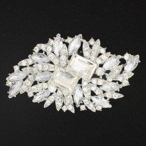 Nice Drop Rhinestone Crystal for Bridal Bridesmaid Flower Brooch Broach Pin 4079
