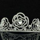 H-Quality Wedding Bridal Flower Tiaras Crown Headband Swarovski Crystals 8567-0C
