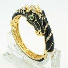 Enamel Unicorn Horse Bracelet Bangle Cuff Rhinestone Crystals Prom Jewelry 2228L