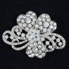 Wedding Women Clear Bow Bowknot Brooch Broach Pins Rhinestone Crystals 4929
