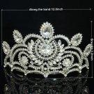 Clear Rhinstone Crystal Weddng Grace Bridal Prom Pageant Tiara Flower Crown 0825