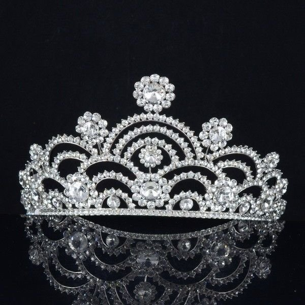 Bridal Tiara Crown For Wedding With Swarovski Crystal Women Party Jewelry SH8459