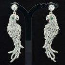 Rhinestone Crystal Animal Clear Parrot Dangle Wedding Earring For Bridal FA2971