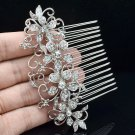 Europe Royal Style Clear Flower Hair Comb Rhinestone Crystals Bridal Prom 202250