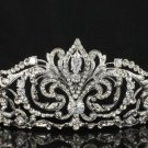 Hi-Q Clear Swarovski Crystal Wedding Bridal Tiara Crown For Women Jewelry JH8372
