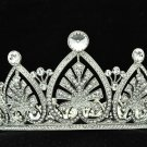 Princess Bridal Wedding Heart Flower Tiara Crown Headband Swarovski Crystal 8644