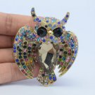 Dazzling Multicolor Animal Bird Owl Brooch Broach Pins Rhinestone Crystals 5758