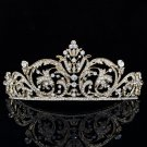 Rhinestone Crystals Europe Imperial Style Flower Tiara Crown Prom Pageant XBY158